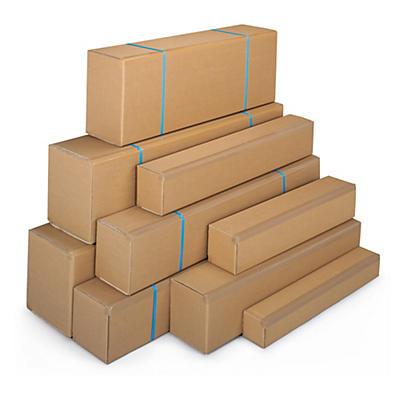 Aflang kasse med åbning på langs - Enkelt bølgepap