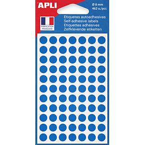 AGIPA Pastilles adhésives de couleur Ø 8 mm - Pochette de 462, coloris bleu
