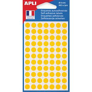 AGIPA Pastilles adhésives de couleur Ø 8 mm - Pochette de 462, coloris jaune