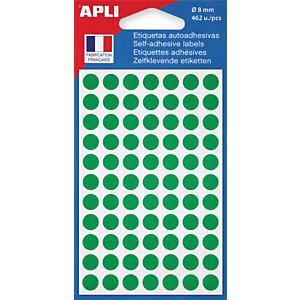 AGIPA Pastilles adhésives de couleur Ø 8 mm - Pochette de 462, coloris vert