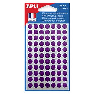 AGIPA Pastilles adhésives de couleur Ø 8 mm - Pochette de 462, coloris Violet