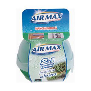 AIR MAX Mangiaumidità Profumatore d'ambiente 2 in 1, Freschezza Alpina, 40 g