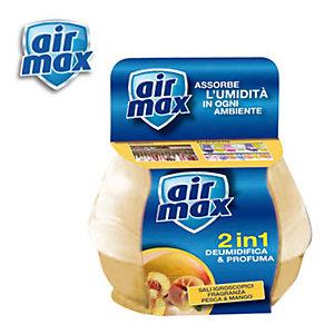 AIR MAX Mangiaumidità Profumatore d'ambiente 2 in 1, Pesca e mango, 40 g