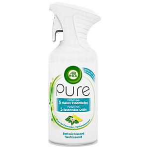 Air Wick Désodorisant aérosol Pure aux huiles essentielles,  Fleur de citronnier - 250 ml