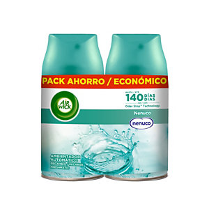 AIR WICK FRESHMATIC ambientador automático frescor Nenuco recambio 2 unidades 250 ml