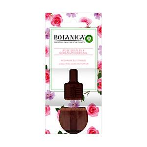 Air Wick Recharge pour diffuseur électrique Botanica parfum Géranium oriental et Rose des îles - Flacon 19ml