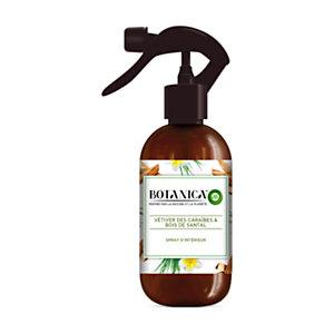 Air Wick Spray d'intérieur Botanica parfum Vétiver et Bois de Santal - Flacon 237ml