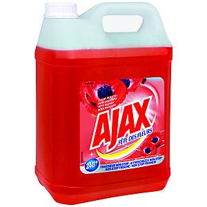 Ajax Produit nettoyant Fête des Fleurs rouges - Bidon de 5 L