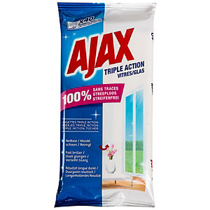 Ajax Sachet de 20 lingettes Vitres