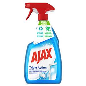 Ajax Triple Action Nettoyant vitres bleu - Spray 750 ml