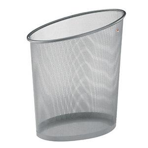 Alba Corbeille à papier Mesh, métal gris - 18 l