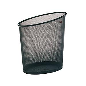 ALBA Corbeille à papier Mesh, métal noir - 18 l