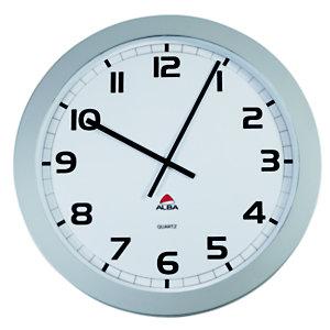 Alba Easy Time Giant Orologio da parete, Diametro 60 cm, Cornice grigia