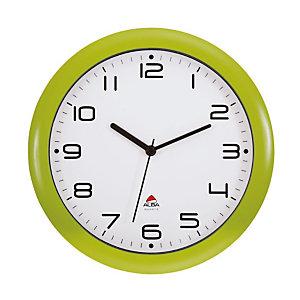 Alba Easy Time Orologio da parete, Cornice Verde