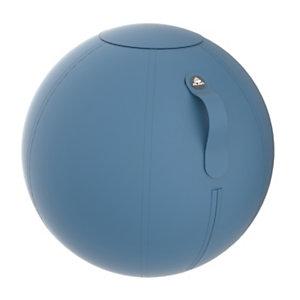 Alba Ergo Ball - Siège ballon ergonomique pour bureau - Housse tissu Bleu