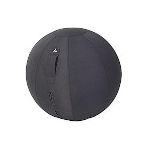 Alba Ergo Ball - Siège ballon ergonomique pour bureau - Housse tissu Noir