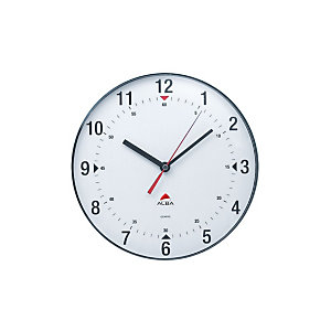 Alba Horclas Reloj analógico de pared, gris con fondo blanco