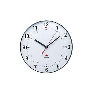Alba Orologio da parete Clas, Ø 25 cm, Quadrante bianco/Cornice grigio