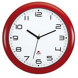 ALBA Orologio da parete Hornew - diametro 30 cm - rosso - Alba