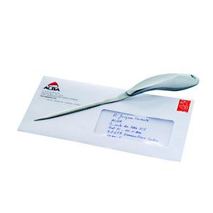 Alba Ouvre lettres OULCUTM gris métal avec prise en main coudée  - L 24 cm