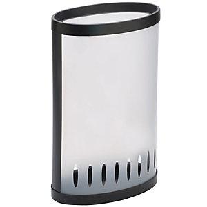 Alba Paragüero elíptico de PVC, traslúcido y negro