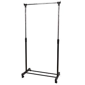 Alba Perchero móvil, plástico y acero, negro y gris, 180x82x42cm