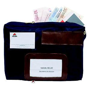 Alba Pochette caisse en nylon imperméable  - 27 x 18,5 cm bleu