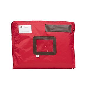 Alba Pochette à courrier en nylon imperméable - 42 x 32 cm - Rouge
