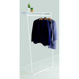 Alba Porta abiti da muro Art, Bianco, cm 85 x 57 x 165 h.