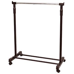 ALBA Portant à vêtements mobile, plastique et acier, 180 x 82 x 42 cm, noir et gris