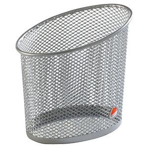 Alba Pot à crayons en métal gris Mesh - 1 compartiment