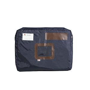 Alba Sacoche navette à courrier en nylon imperméable avec soufflet  - 42x32x5 cm bleu
