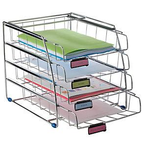 ALBA Set da 4 vaschette scorrevoli - 31,5x39x31,5 cm - vaschette 6,5 cm - metallo - Alba