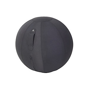Alba Siège ballon ergonomique Ergo Ball, ballon PVC et housse en tissu 100% polyester - diamètre 65 cm - coloris Noir