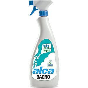 ALCA Bagno Disincrostante per bagni Ecolabel, Flacone spray 750 ml