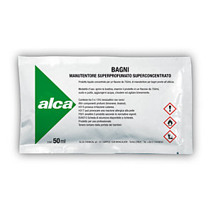 ALCA Kit 10 bustine monodose da 50 ml Bagni Manutentore Superprofumato Superconcentrato + Flacone spray da 750 ml
