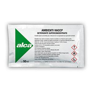 ALCA Kit 10 bustine monodose da 50 ml Detergente Ambienti HACCP + Flacone spray da 750 ml