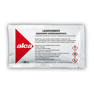 ALCA Kit 10 bustine monodose da 50 ml Lavapavimenti Sgrassante Superconcentrato + Flacone da 1 litro