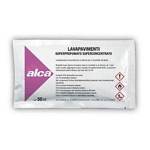ALCA Kit 10 bustine monodose da 50 ml Lavapavimenti Superprofumato Superconcentrato + Flacone da 1 litro