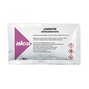 ALCA Kit 10 bustine monodose da 50 ml Lavavetri Superconcentrato + Flacone spray da 750 ml