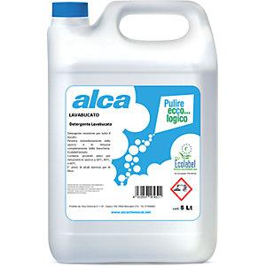 ALCA Lavabucato Detersivo liquido per bucato in lavatrice Ecolabel, Tanica 5 l