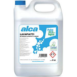 ALCA Lavapiatti Detersivo lavapiatti a mano Ecolabel, Tanica 5 l