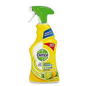 Allesreiniger met drievoudige werking Dettolclean citroen 750 ml