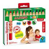 ALPINO Baby Lápices de colores gruesos y mina blanda