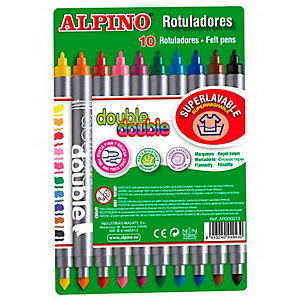 ALPINO Rotuladores con 2 puntas colores surtidos