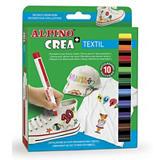 ALPINO Rotuladores para textil, punta ojival, colores surtidos