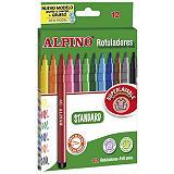 ALPINO Rotuladores de punta fina colores surtidos