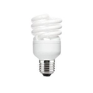 Aluminor Luminaires Ampoule Fluocompacte - 2 tubes spirales – Culot E27 - 20W - 1220 lumens - 2700K