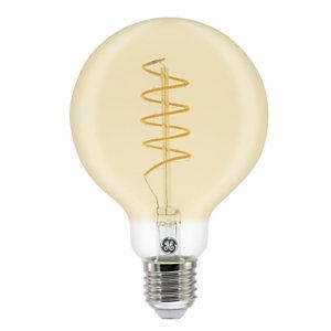 Aluminor Luminaires Ampoule LED à filament Globe Vintage 5,5W - culot E27, 250 lumens, 2000K, Classe A