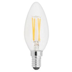 Aluminor Luminaires Ampoule LED flamme, à filament, 2,5W - culot E14, 250 lumens, 2700K, Classe A++
